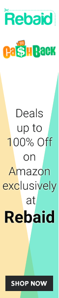 Deals up to 100% of on Amazon exclusively at Rebaid.