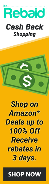 Shop on Amazon* Deals up to 100% Off Receive rebates in 3 days