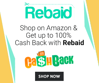 Shop on Amazon & Get up to 100% cash back with Rebaid.