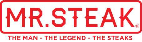 Mr. Steak logo - tagline