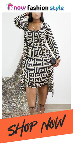 K11639 1 - 42% Off Fashion Printed Long Sleeve Two Pieces