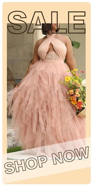 42% Off Fashion Halterneck Evening Dress