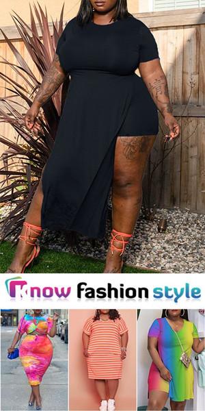 K19432 3 - 45% Off Fashion Plus Size Dresses