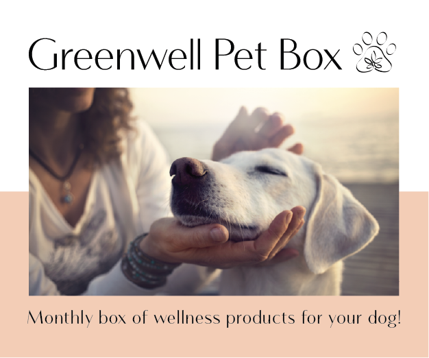 Monthly box of products that help your dog!