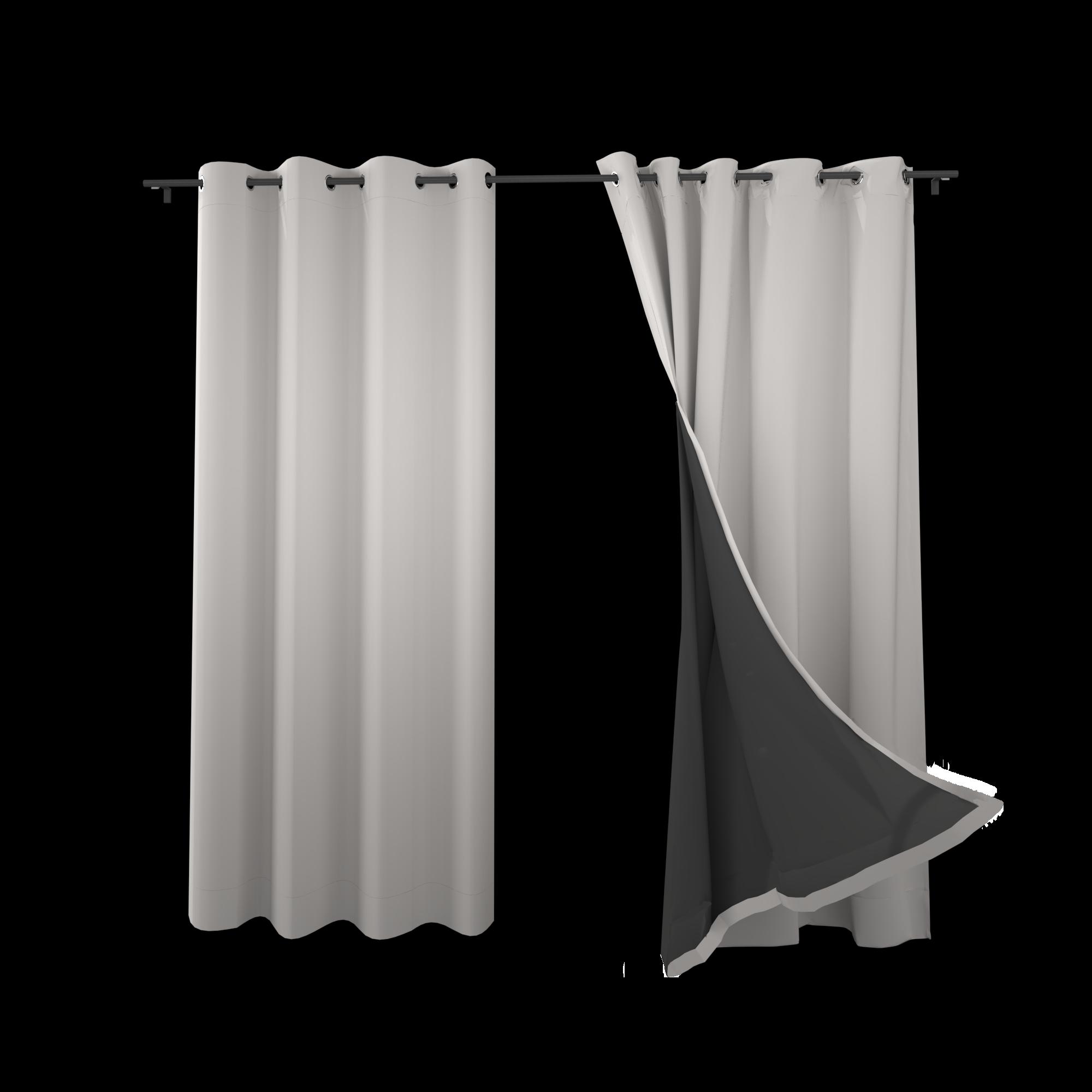 SNOWCITY 100% Blackout Window Curtain Panels