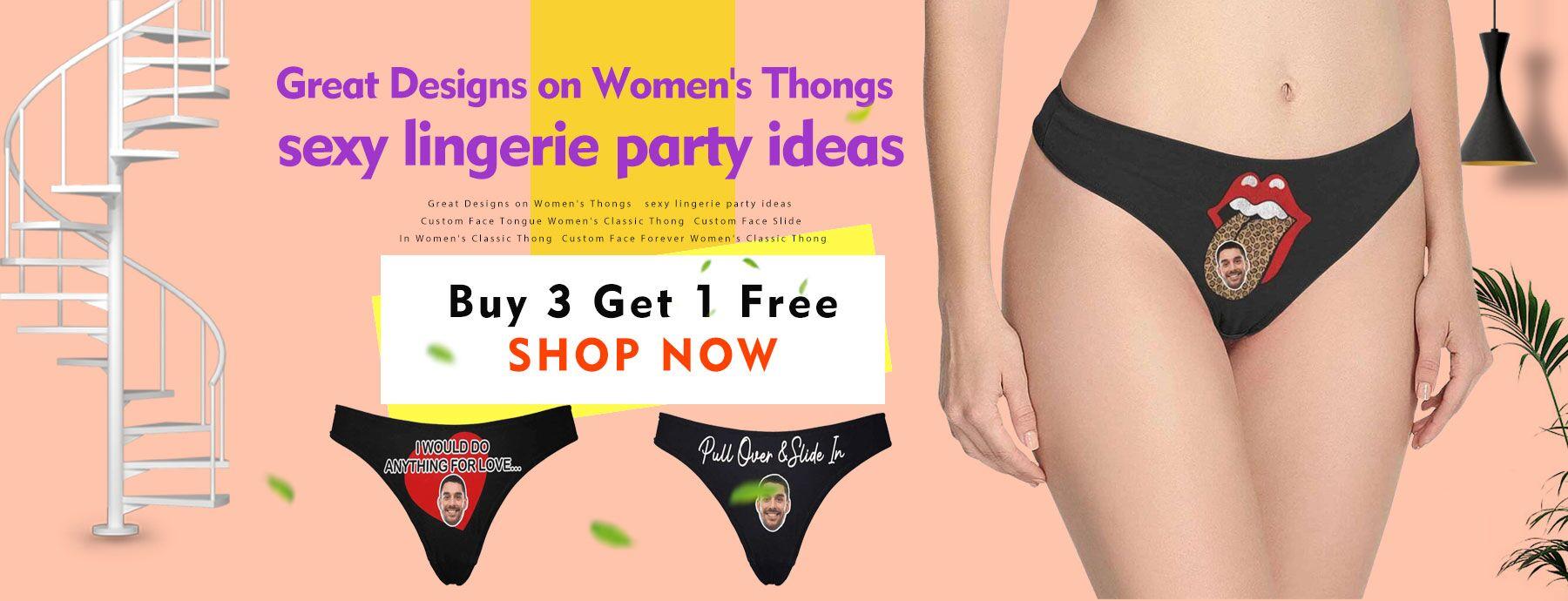 Buy 3 get 1 free- Funny Design on Women's Panties!