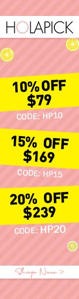 Holapick.com 10% Off Orders Over 79$ Code:hl10