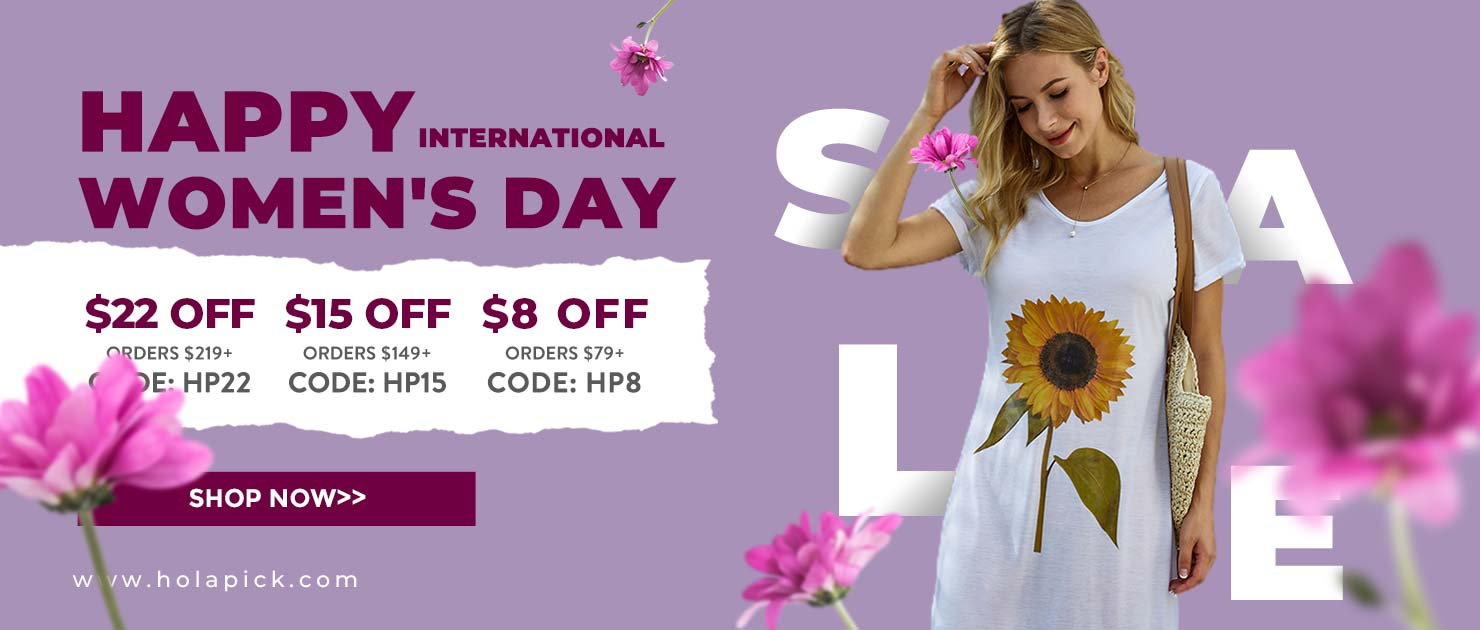 Holpaick.com Happy International Women's Day $8 Off Orders Over $79,code:HP8