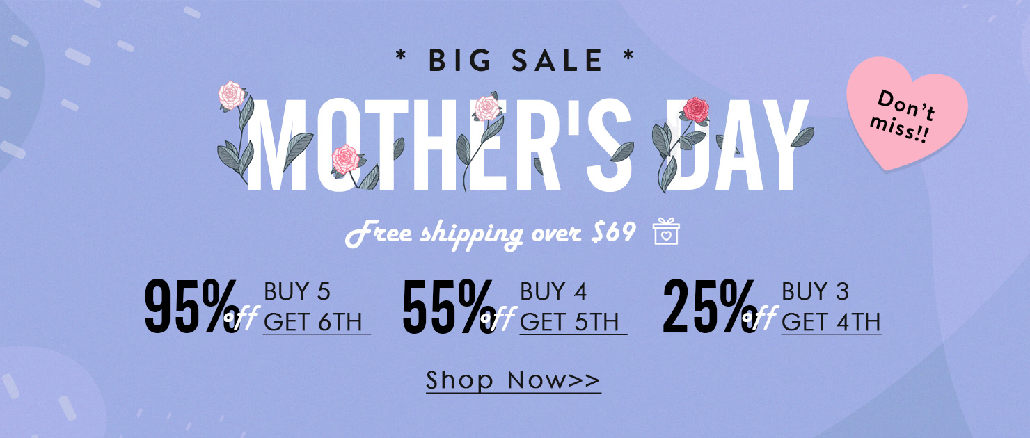 Holapick Mother's Day Big Sale Free Shipping Over $69