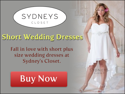 Beautiful plus size wedding dresses at www.sydneyscloset.com