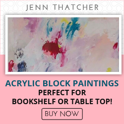 Acrylic Blocks Paintings Perfect for bookshelf or table top
