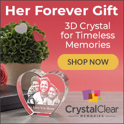 Find Quality Custom One of a Kind Mother's Day Gifts at CrystalClearMemories.com - Personalize your 3D Crystal Photo Gift Today. Free Shipping! Shop Now.