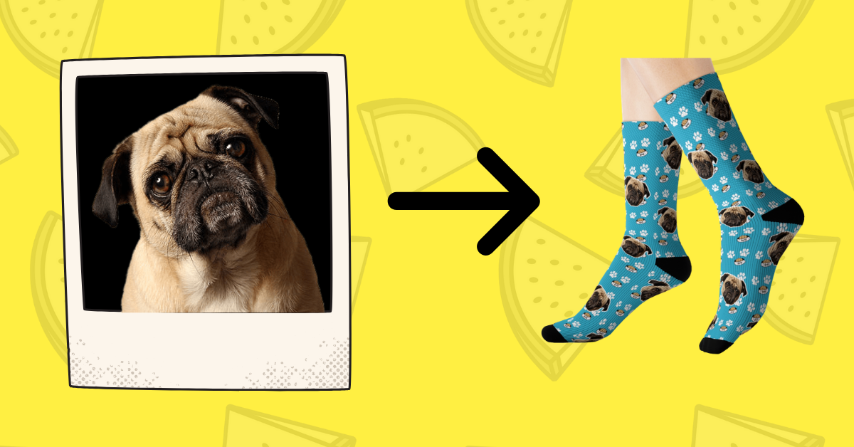 Put your Dog Face on Custom Socks