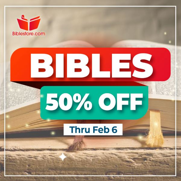 Bibles 50% Off Sale