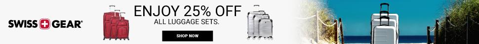 Get 25% Off SWISSGEAR Luggage Sets
