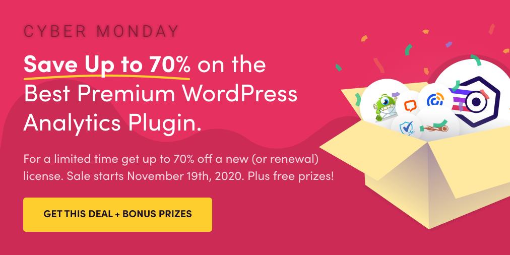 ExactMetrics, Cyber Monday, WordPress Plugin Sales