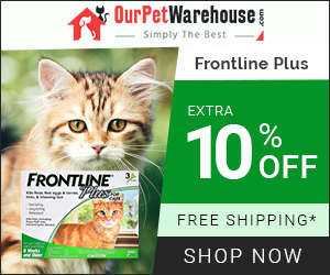 Buy Cheapest Flea & Tick Treatment for Cats. Frontline Plus at 10% Extra Discount + Free Shipping