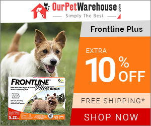 Buy Cheapest Flea & Tick Treatment for Dogs. Frontline Plus at 10% Extra Discount + Free Shipping