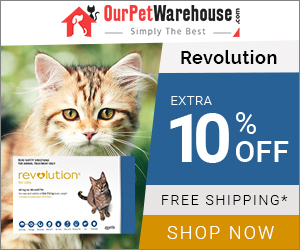 Save 10% Extra on Revolution Flea Treatment for Cats + Free Shipping on All Orders.