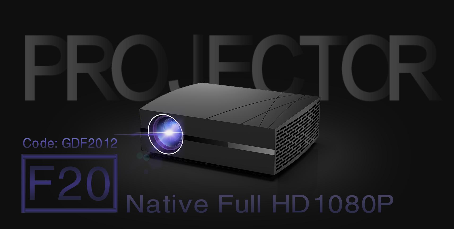 goodeestore.com - $100 OFF, $79.99 GooDee F20 Full HD 1080P Support LED Video Projector