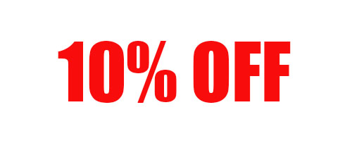 10% Off Your Order of $360-499 + Free Shipping!