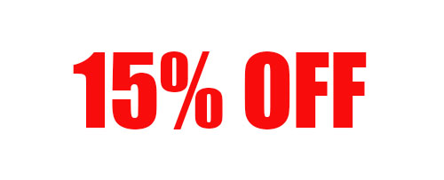 15% Off Your Order of $500-999 + Free Shipping!
