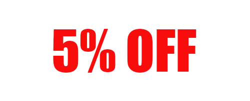 5% Off Your Order of $99-199 + Free Shipping!