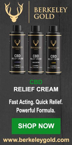 Berkeley Gold CBD relief cream's fast-absorbing formula is designed for quick relief!