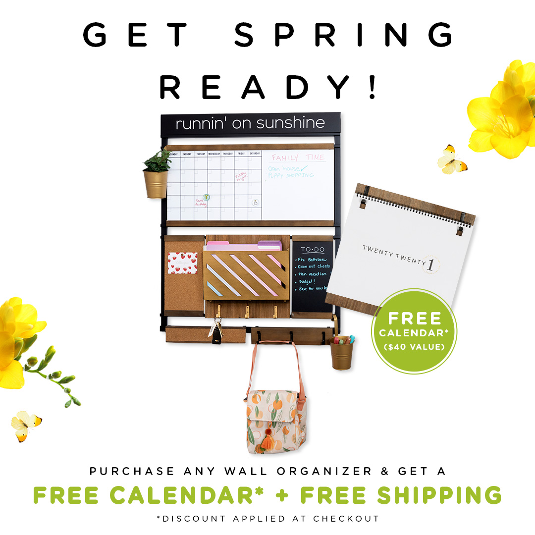 Get your free calendar + free shipping with an order of any 1THRIVE Wall Organizer!