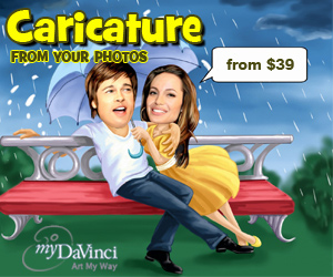 caricature from photos at myDaVinci.com