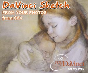 davinci sketch from photos at myDaVinci.com