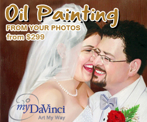 oil paintings from photos at myDaVinci.com