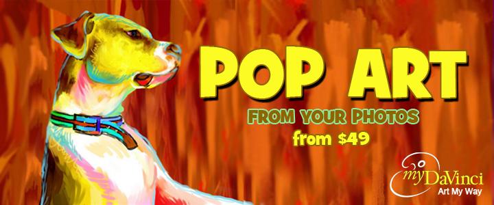 pop art from photos at myDaVinci.com