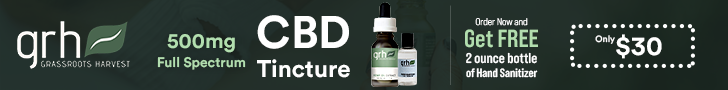 500mg CBD Tincture from Grassroots Harvest