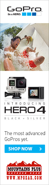 Film your fall and winter adventures with the new improved GoPro Hero 4.  And get it from Mountains Plus Outdoor Gear because they have been selling gear online the right way for two decades.