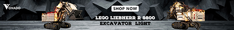 Light up for LEGO Liebherr R 9800 Excavator