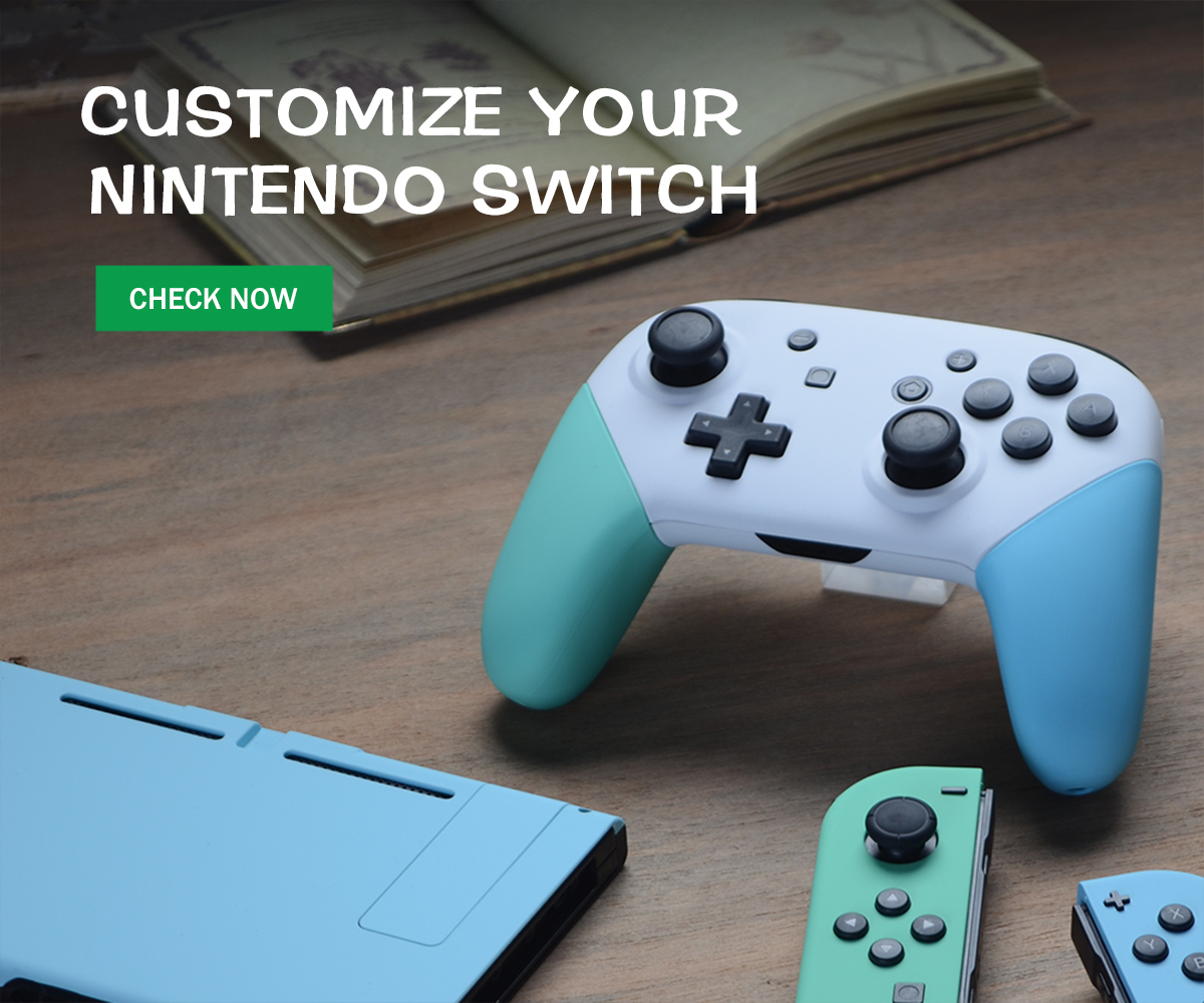 Customize your color schemes for your Nintendo Switch.