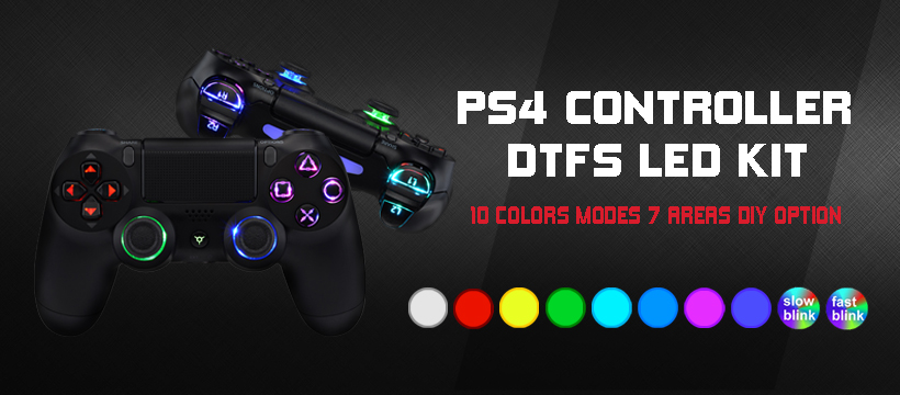 Build an ultimate RGB PS4 controller to stand out from others.