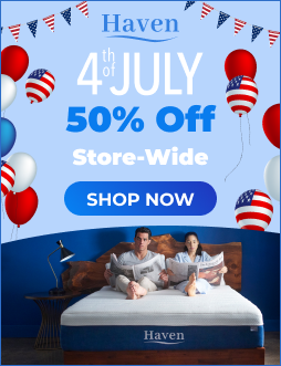 New Year Sale: 30% Off Store-Wide with any mattress purchase at TheHavenBed.com now, with code NEWYEAR30. Hurry! Offer ends soon.
