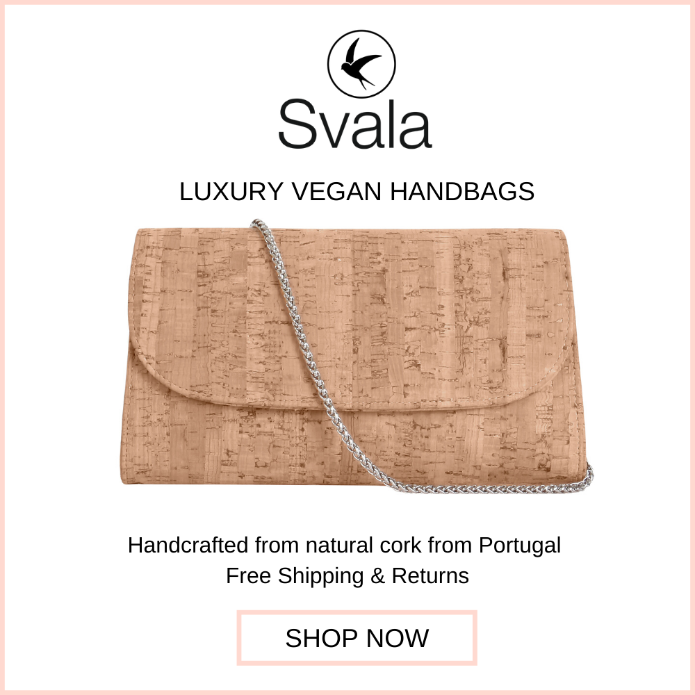 Svala vegan cork Didi convertible clutch