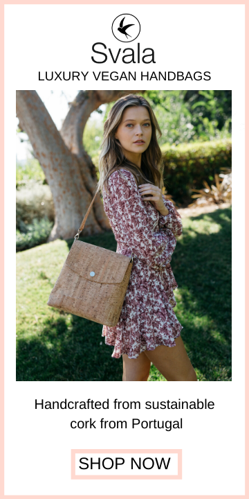 Svala vegan cork Gemma backpack purse