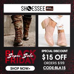 Shoessee.com Black Friday Super Sale  $15 Off Orders Over $99