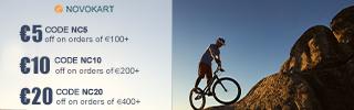 Novokart 'Wayfarer' Foldable and 'Discovery' Mountain Bike 6 Cutter Wheel
