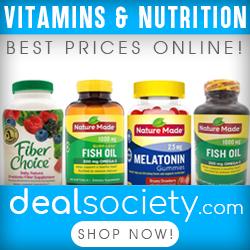 Top Brand Vitamins - Best Prices Online! www.dealsociety.com