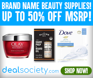 Save up to 50% On Health & Beauty Supplies! dealsociety.com