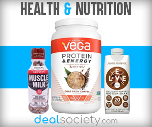 Save on Nutrition and Supplements at DealSociety!