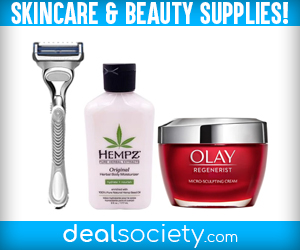 Save on Skin Care and Beauty Supplies at DealSociety!