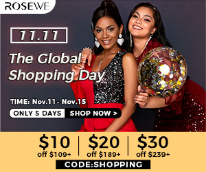 $10 off over $109,$ 20 off over $189 ,$30 off  over $239,with code:SHOPPING,ended on:11/15.
