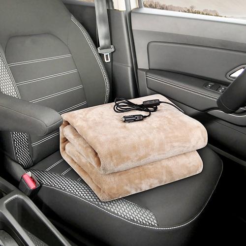 Audew12V24VHeatedCarBlanketBreathableandSoftFlannelMaterialGreatforCarTruckRV - 20% Off 12V/24V Breathable and Soft Heated Car Blanket