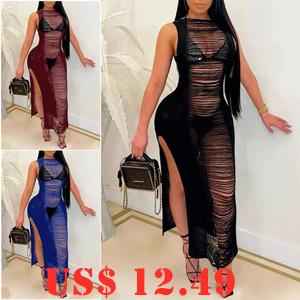 30% Off Fashion O Neck Sleeveless Dress